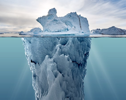 Identity iceberg, we only see behavior DISC profile